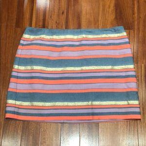 JCrew women's stipe skirt, size 12
